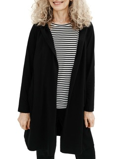 Eileen Fisher Hooded Open Front Jacket (Regular & Petite)