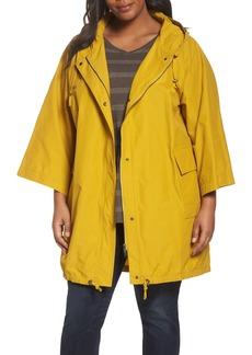 Eileen Fisher Hooded Organic Cotton & Nylon Jacket (Plus Size)
