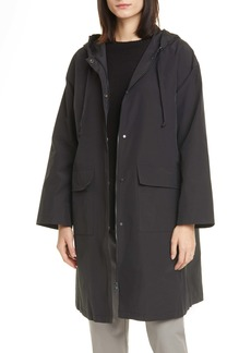 Eileen Fisher Hooded Organic Cotton Blend Coat