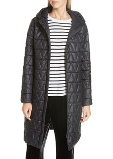 Eileen Fisher Hooded Quilted Coat (Regular & Petite)