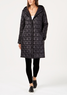 Eileen Fisher Hooded Quilted Coat, Regular & Petite