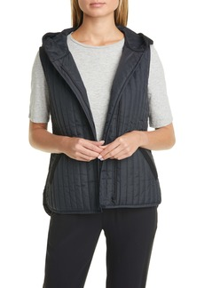 Eileen Fisher Hooded Quilted Vest