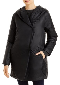 Eileen Fisher Hooded Shawl Collar Coat