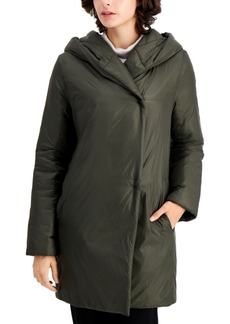 Eileen Fisher Hooded Shawl-Collar Coat