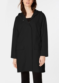 Eileen Fisher Recycled Polyester Hooded Zip-Up Jacket