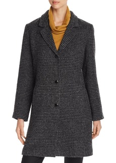 Eileen Fisher Houndstooth Mid-Length Coat - 100% Exclusive