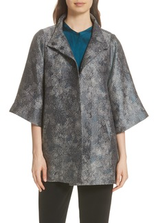 Eileen Fisher Jacquard A-Line Jacket