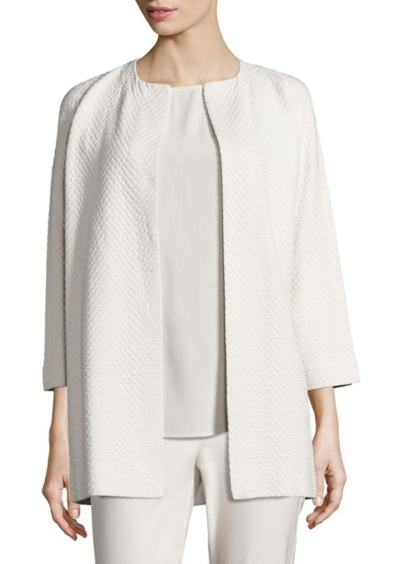 Eileen Fisher Jacquard Open-Front Jacket