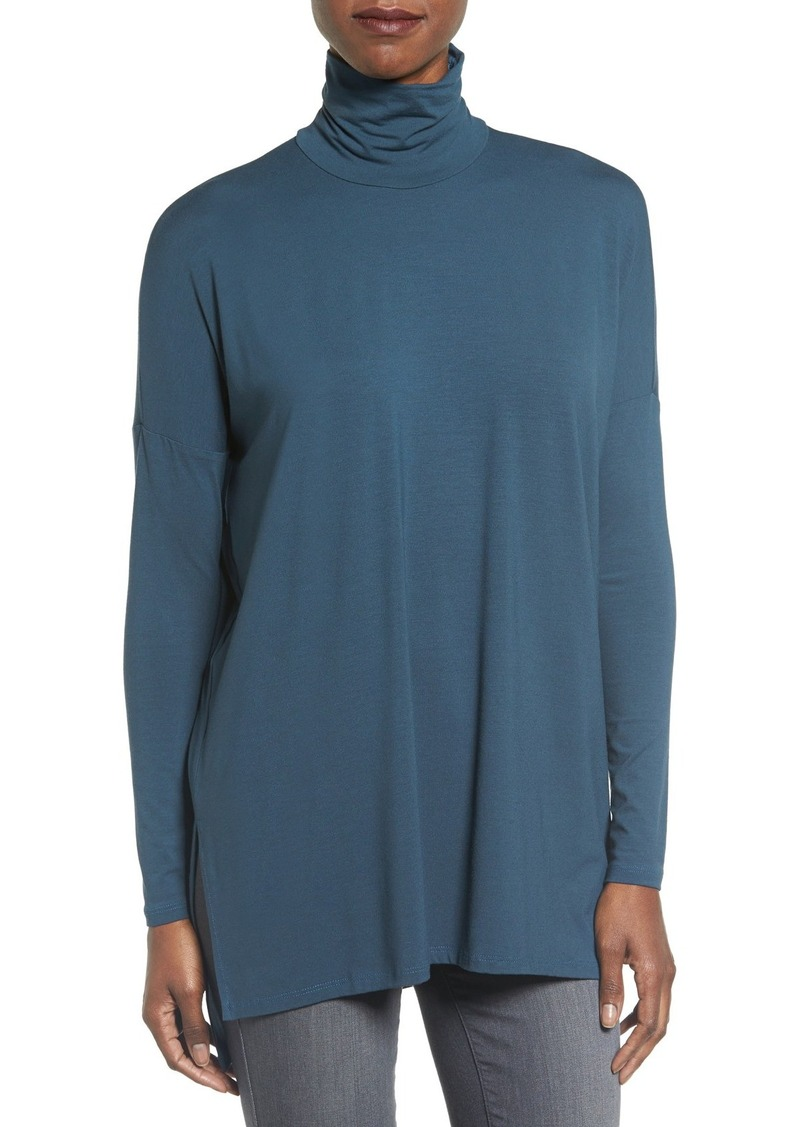 Eileen Fisher Jersey A-Line Turtleneck (Regular & Petite)