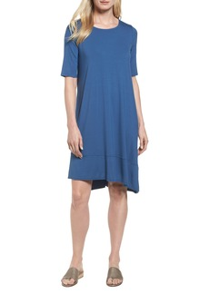 Eileen Fisher Jersey Asymmetrical A-Line Dress