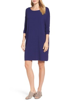 Eileen Fisher Jersey Ballet Neck Shift Dress (Regular & Petite)