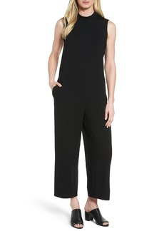 Eileen Fisher Jersey Crop Wide Leg Jumpsuit
