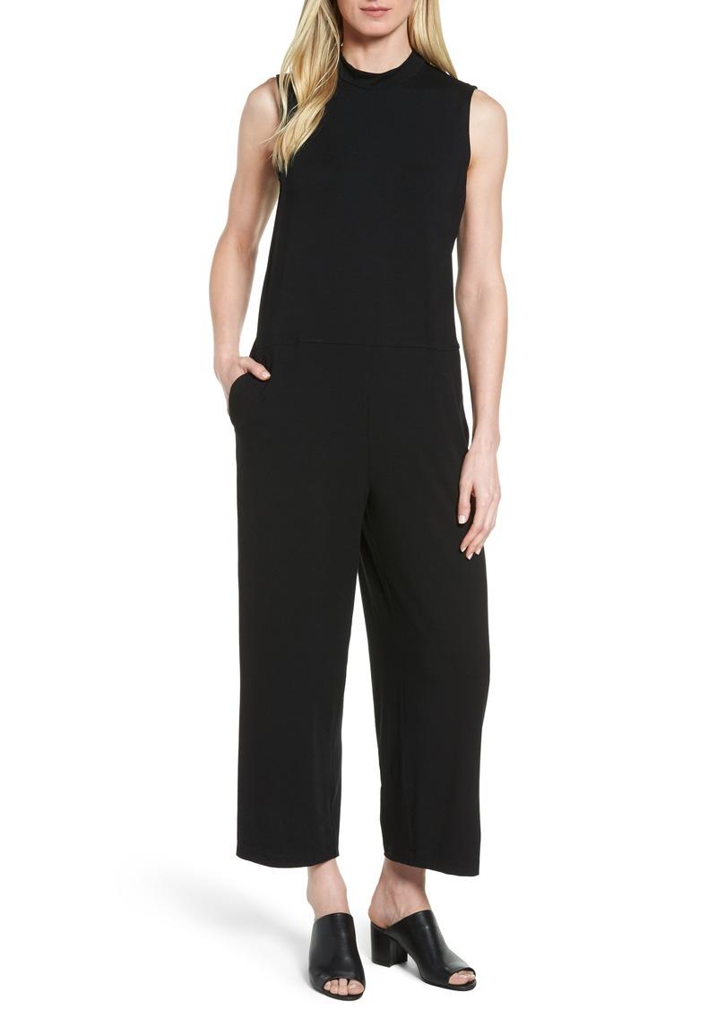 Eileen Fisher Jersey Crop Wide Leg Jumpsuit