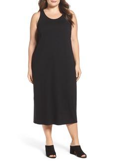 Eileen Fisher Jersey Midi Dress (Plus Size)