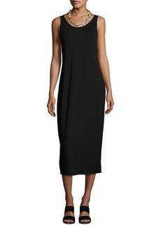 Eileen Fisher Jersey Scoop-Neck Midi Dress