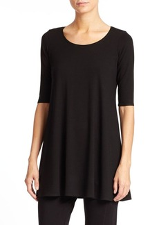 Eileen Fisher Jersey Scoopneck Tunic