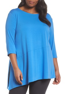Eileen Fisher Jewel Neck Asymmetrical Top (Plus Size)