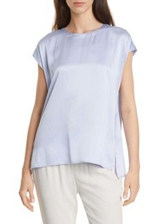Eileen Fisher Jewel Neck Silk Top