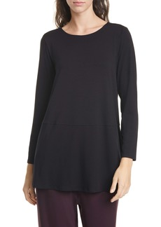 Eileen Fisher Jewel Neck Top