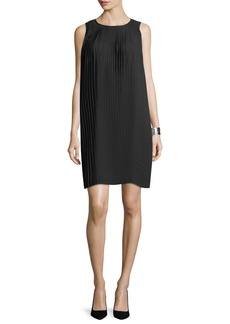 Eileen Fisher Knife-Pleated Knee-Length Dress