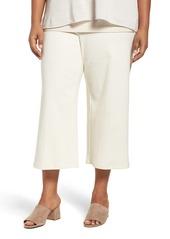 Eileen Fisher Knit Wide Leg Crop Pants (Plus Size)
