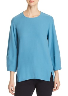 Eileen Fisher Lantern-Sleeve Silk Tunic