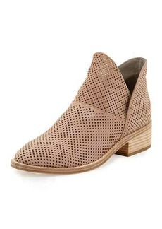 Eileen Fisher Leaf Perforated Leather Bootie