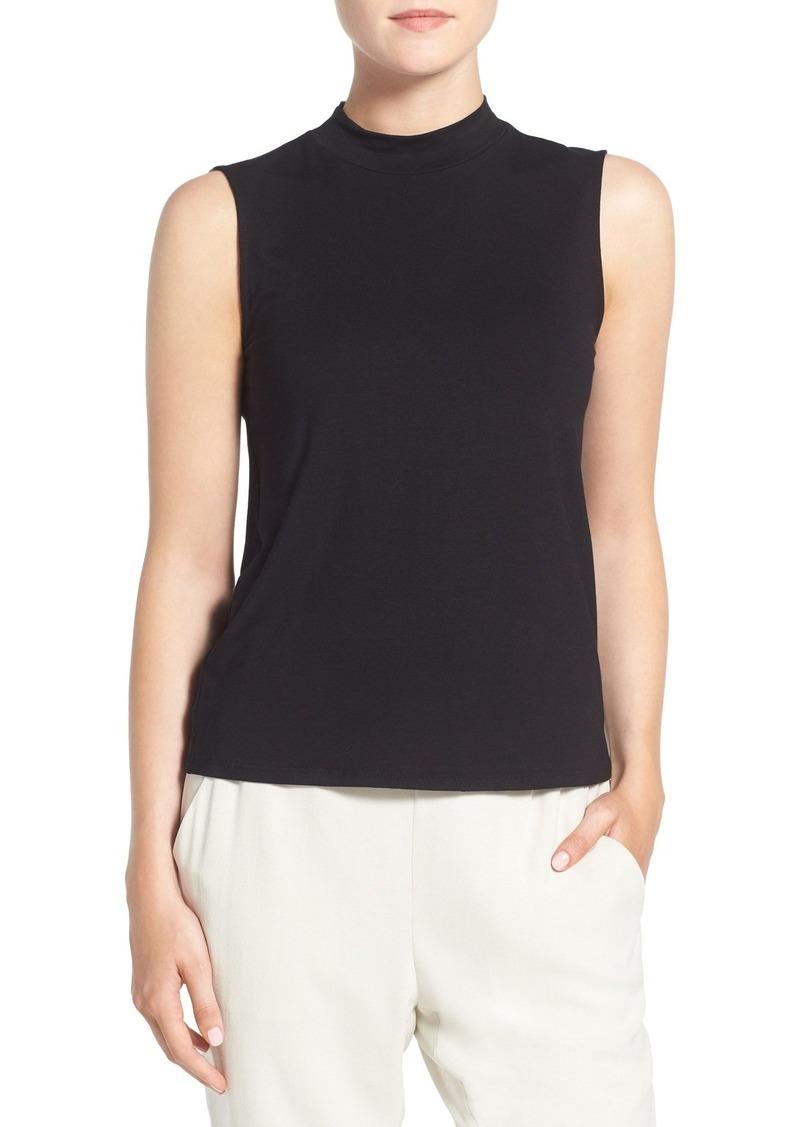 Eileen Fisher Lightweight Jersey Sleeveless Mock Neck Top (Regular & Petite)