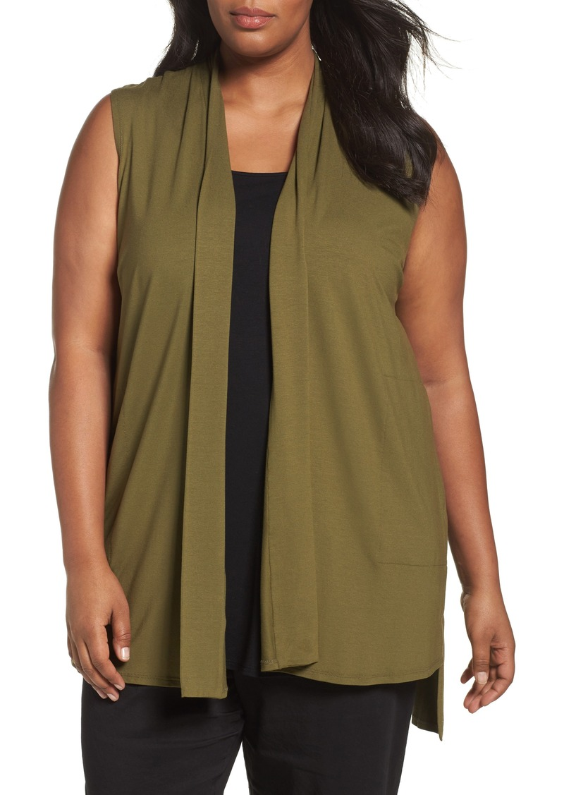 21bf3e23225 Eileen Fisher Lightweight Jersey Vest (Plus Size)