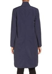 Eileen Fisher Lightweight Shawl Collar Organic Cotton Blend Long Coat