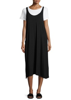Eileen Fisher Lightweight Viscose Jersey Jumper Dress