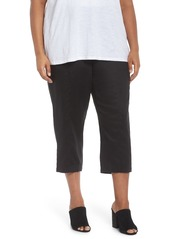 Eileen Fisher Linen Ankle Pants (Plus Size)