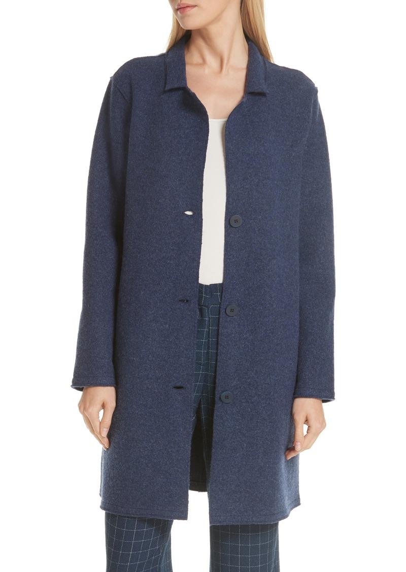 Eileen Fisher Long Boiled Wool Jacket