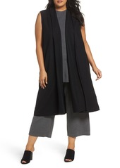 Eileen Fisher Long Boiled Wool Vest (Plus Size)