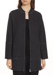 Eileen Fisher Long Bomber Jacket (Regular & Petite)