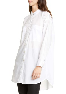 Eileen Fisher Long Boxy Stretch Organic Cotton Shirt