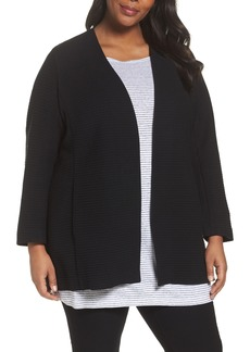 Eileen Fisher Long Jacquard Jacket (Plus Size)