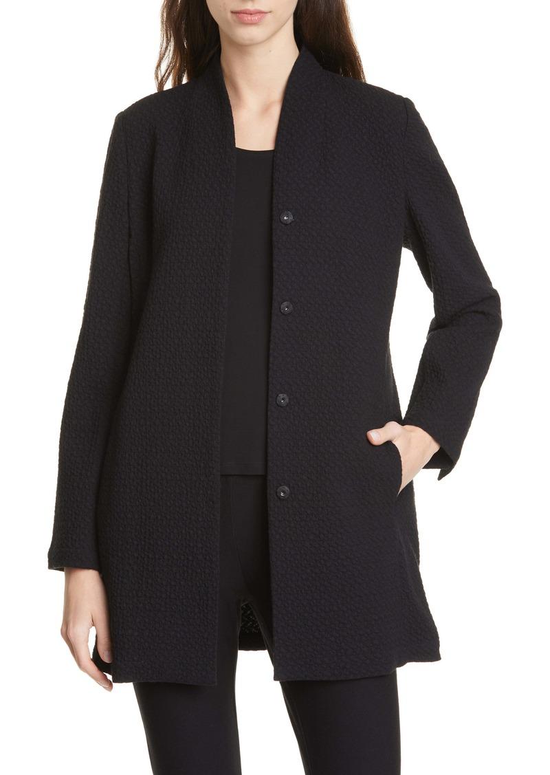 Eileen Fisher Long Jacquard Jacket (Regular & Petite)