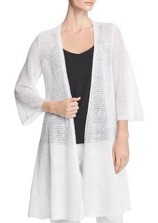 Eileen Fisher Long-Line Organic Linen Cardigan