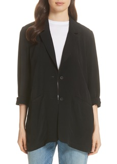 Eileen Fisher Long Notch Collar Jacket (Regular & Petite)