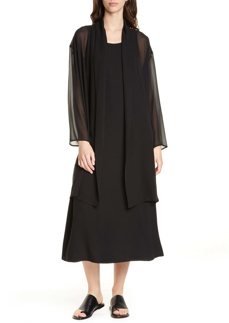 Eileen Fisher Long Open Front Tencel® Lyocell Jacket