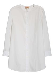 Eileen Fisher Long Organic Cotton Poplin Shirt (Unisex) (Nordstrom Exclusive)