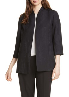 Eileen Fisher Long Patterned Piqué Jacket