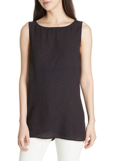 Eileen Fisher Long Print Silk Shell
