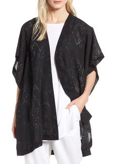 Eileen Fisher Long Silk Blend Kimono Jacket