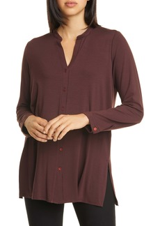 Eileen Fisher Long Sleeve Jersey Tunic (Regular & Petite)