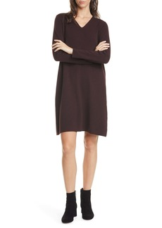 Eileen Fisher Long Sleeve Merino Wool Sweater Dress (Regular & Petite)