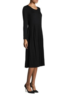 Eileen Fisher Long Sleeve Midi Dress