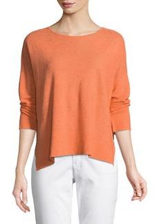 Eileen Fisher Long-Sleeve Organic Linen Box Top