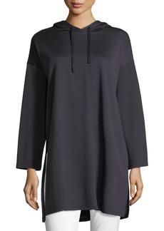Eileen Fisher Long-Sleeve Oversized Hooded Tunic